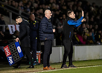 Bolton Wanderers' manager Keith Hill (left) and assistant manager David Flitcroft issue instructions<br /> <br /> Photographer Andrew Kearns/CameraSport<br /> <br /> The Premier League - Leicester City v Aston Villa - Monday 9th March 2020 - King Power Stadium - Leicester<br /> <br /> World Copyright © 2020 CameraSport. All rights reserved. 43 Linden Ave. Countesthorpe. Leicester. England. LE8 5PG - Tel: +44 (0) 116 277 4147 - admin@camerasport.com - www.camerasport.com