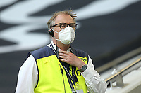 A steward with his face mask on during Tottenham Hotspur vs Everton, Premier League Football at Tottenham Hotspur Stadium on 6th July 2020
