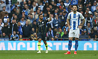 Manchester City's Gabriel Jesus celebrates scoring his side's first goal <br /> <br /> Photographer Rob Newell/CameraSport<br /> <br /> Emirates FA Cup Semi-Final - Manchester City v Brighton & Hove Allbion - Saturday 6th April 2019 - Wembley Stadium - London<br />  <br /> World Copyright © 2019 CameraSport. All rights reserved. 43 Linden Ave. Countesthorpe. Leicester. England. LE8 5PG - Tel: +44 (0) 116 277 4147 - admin@camerasport.com - www.camerasport.com