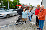 Residents on Bridge Road, Listowel are seeking safety measures as residents are unable to cross the road due to the daily volume of traffic. L to r: Tom Roche, Toddy Scanlon, Helen Galvin, Linda and Lucy Scully, Agnes Stokes and Trish Behan.