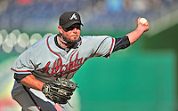 25 September 2010: Atlanta Braves pitcher Billy Wagner in action against the Washington Nationals at Nationals Park in Washington, DC. The Braves shut out the Nationals 5-0 to even their 3-game series at one win apiece. The Braves' victory was the 2500th career win for skipper Bobby Cox. Cox will retire at the end of the 2010 season, crowning a 29-year managerial career. Mandatory Credit: Ed Wolfstein Photo