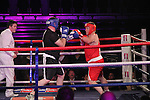 """Robbie Sweeney """"Raging Robbie"""" (red) sponsored by Learn About Shares and Chris Lennon """"Big Bang Lennon"""" (black) sponsored by Outsource taking part in Drogheda and District, """"Battle of the Barbican"""" White Collar Boxing Event in aid of the Des Smyth Foundation...(Photo credit should read Jenny Matthews www.newsfile.ie)....This Picture has been sent you under the conditions enclosed by:.Newsfile Ltd..The Studio,.Millmount Abbey,.Drogheda,.Co Meath..Ireland..Tel: +353(0)41-9871240.Fax: +353(0)41-9871260.GSM: +353(0)86-2500958.email: pictures@newsfile.ie.www.newsfile.ie."""
