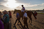 JUL 18,2014:My Fiona,ridden by Fernando Perez,wins the CTBA Stakes at Del Mar in Del Mar,CA. Kazushi Ishida/ESW/CSM