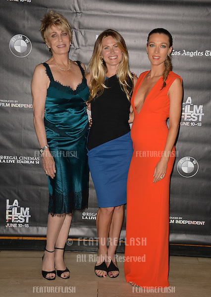 """Joanna Cassidy (left), Vail Bloom & Natalie Zea at the premiere of """"Too Late"""", part of the LA Film Festival, at the Bing Theatre at LACMA.<br /> June 11, 2015  Los Angeles, CA<br /> Picture: Paul Smith / Featureflash"""