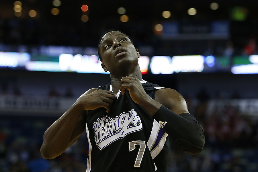 NEW ORLEANS, LA - MARCH 07:  Darren Collison #7 of the Sacramento Kings reacts during a game at Smoothie King Center on March 7, 2016 in New Orleans, Louisiana. NOTE TO USER: User expressly acknowledges and agrees that, by downloading and or using this photograph, User is consenting to the terms and conditions of the Getty Images License Agreement.  (Photo by Jonathan Bachman/Getty Images)