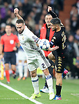 Real Madrid's Dani Carvajal (l) and SSC Napoli's Lorenzo Insigne during Champions League 2016/2017 Round of 16 1st leg match. February 15,2017. (ALTERPHOTOS/Acero)