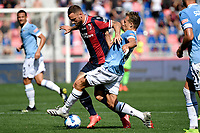 Marko Arnautovic of Bologna FC and Lucas Leiva of SS Lazio compete for the ball during the Serie A football match between Bologna FC and SS Lazio at Renato Dall'Ara stadium in Bologna (Italy), October 3rd, 2021. Photo Andrea Staccioli / Insidefoto