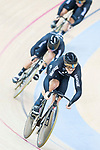 The team of New Zealand with Ethan Mitchell, Sam Webster and Edward Dawkins compete in Men's Team Sprint Finals match as part of the 2017 UCI Track Cycling World Championships on 12 April 2017, in Hong Kong Velodrome, Hong Kong, China. Photo by Victor Fraile / Power Sport Images
