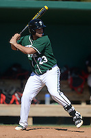 Plymouth State Panthers Mark Ruiz (23) during the first game of a doubleheader against the Edgewood Eagles on March 17, 2015 at Terry Park in Fort Myers, Florida.  Edgewood defeated Plymouth State 12-3.  (Mike Janes/Four Seam Images)