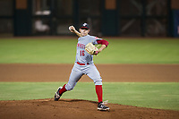 AZL Reds starting pitcher Jared Solomon (16) delivers a pitch to the plate against the AZL Giants on August 12, 2017 at Scottsdale Stadium in Scottsdale, Arizona. AZL Giants defeated the AZL Reds 1-0. (Zachary Lucy/Four Seam Images)