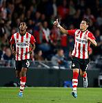 Nederland, Eindhoven, 15 september 2015<br /> Champions League<br /> Seizoen 2015-2016<br /> PSV-Manchester United<br /> Hector Moreno van PSV juicht nadat hij een doelpunt heeft gemaakt, 1-1