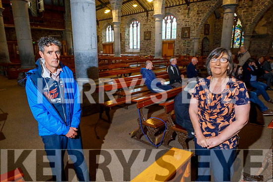 Church Ushers, Paddy Daly and Bridget Daly at St Johns Church on Monday morning as Churches reopen for masses.
