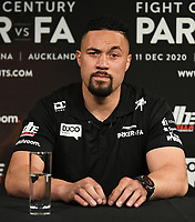 6th October 2020, Auckland, New Zealand;  Joseph Parker during a boxing press conference confiming the heavyweight boxing match between Joseph Parker and Junior Fa. Spark City, Auckland