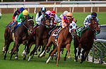 September 27 2014: Emollient with Rosie Napravnik wins the Rodeo Drive Stakes at Santa Anita Park in Arcadia CA. Alex Evers/ESW/CSM