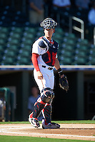 Surprise Saguaros Mitch Garver (23), of the Minnesota Twins organization, during a game against the Peoria Javelinas on October 20, 2016 at Surprise Stadium in Surprise, Arizona.  Peoria defeated Surprise 6-4.  (Mike Janes/Four Seam Images)