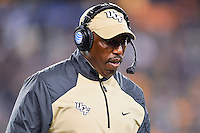 January 01, 2014:<br /> <br /> UCF Knights running backs coach Danny Barrett during Tostitos Fiesta Bowl at University of Phoenix Stadium in Scottsdale, AZ. UCF defeat Baylor 52-42 to claim it's first ever BCS Bowl trophy.