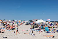 Busy beach, Stone Harbor, New Jersey, USA