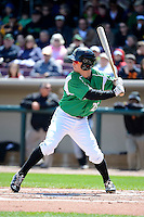 Dayton Dragons outfielder Beau Amaral #25 during a game against the Bowling Green Hot Rods on April 21, 2013 at Fifth Third Field in Dayton, Ohio.  Bowling Green defeated Dayton 7-5.  (Mike Janes/Four Seam Images)