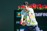 March 17, 2018: Milos Raonic (CAN) defeated  by Juan Martin Del Potro (ARG) 6-2, 6-3 in the Semifinals of the BNP Paribas Open at the Indian Wells Tennis Garden in Indian Wells, California. ©Mal Taam/TennisClix/CSM