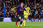 Ivan Rakitic of FC Barcelona (L) in action against Samuel Chukwueze of Villarreal (R) during the La Liga 2018-19 match between FC Barcelona and Villarreal at Camp Nou on 02 December 2018 in Barcelona, Spain. Photo by Vicens Gimenez / Power Sport Images