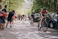 Tim Wellens (BEL/Lotto Soudal) up the Côte de la Roche aux Faucons<br /> <br /> 104th Liège - Bastogne - Liège 2018 (1.UWT)<br /> 1 Day Race: Liège - Ans (258km)