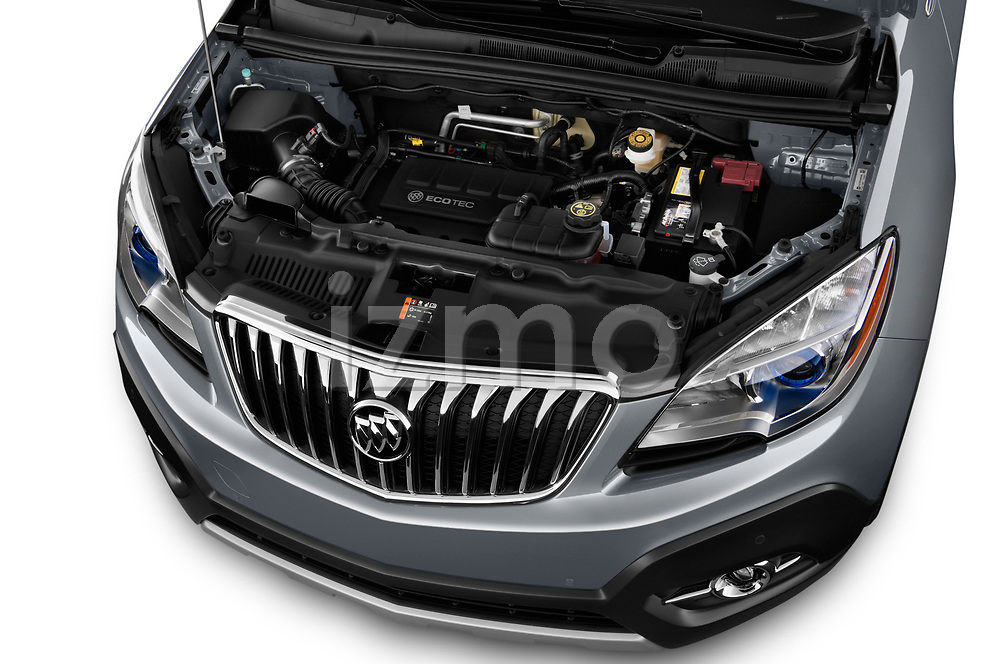 High angle engine detail of a  <br /> 2013 Buick Encore