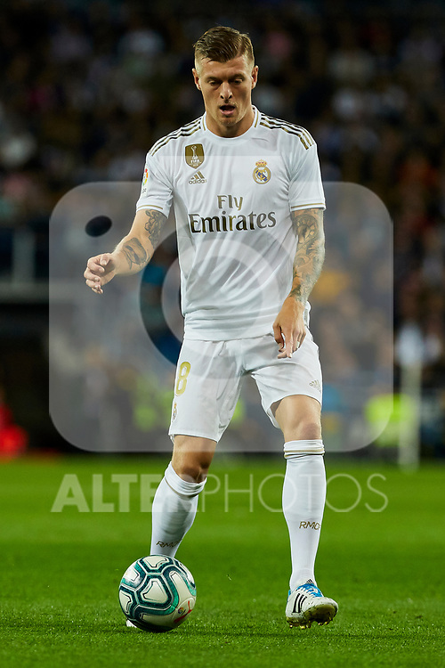 Toni Kroos of Real Madrid during La Liga match between Real Madrid and Real Betis Balompie at Santiago Bernabeu Stadium in Madrid, Spain. November 02, 2019. (ALTERPHOTOS/A. Perez Meca)