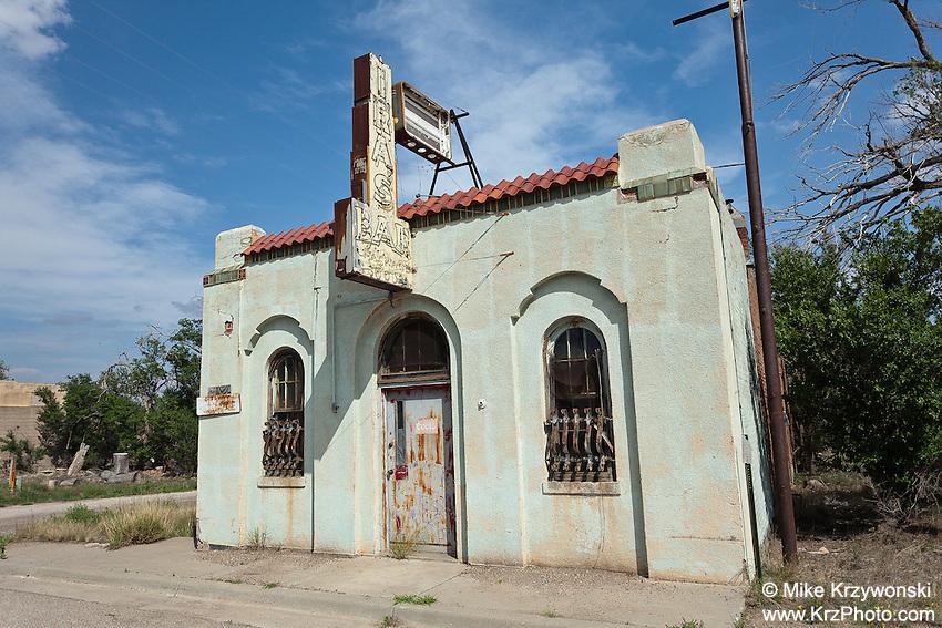 "Abandoned ""Ira's Bar"" Old Bank Bldg. in Nara Visa, NM"
