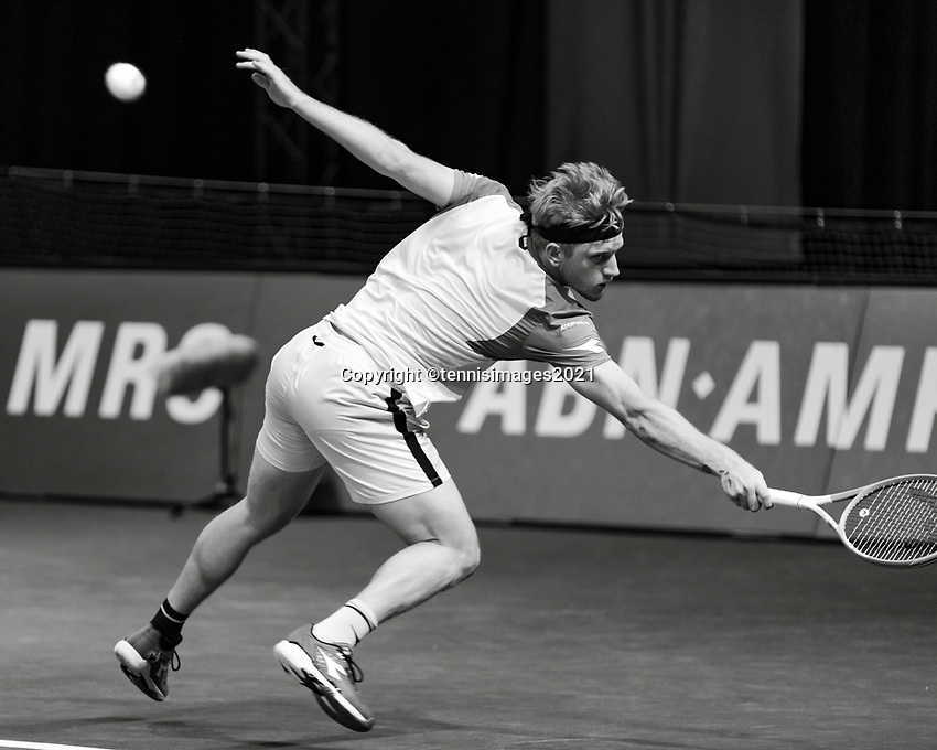 Rotterdam, The Netherlands, 3 march  2021, ABNAMRO World Tennis Tournament, Ahoy, First round singles: Alejandro Davidovich Fokina (ESP).<br /> Photo: www.tennisimages.com/