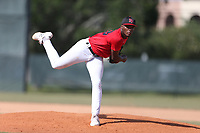 Brandon Walker (59) of North Florida Christian High School in Tallahassee, Florida during the Under Armour Baseball Factory National Showcase, Florida, presented by Baseball Factory on June 12, 2018 the Joe DiMaggio Sports Complex in Clearwater, Florida.  (Nathan Ray/Four Seam Images)