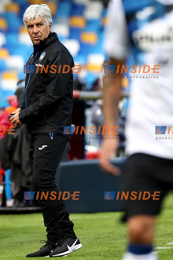 Gian Piero Gasperini of Atalanta BC  reacts during the Serie A football match between SSC Napoli and Atalanta BC at San Paolo stadium in Naples (Italy), October 17th 2020. Photo Cesare Purini / Insidefoto