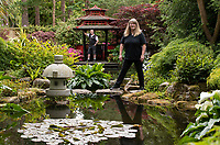 Green-fingered couple who have spent 20 years building an incredible Japanese-themed garden.