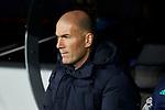Zinedine Zidane coach of Real Madrid during UEFA Champions League match between Real Madrid and Paris Saint-Germain FC at Santiago Bernabeu Stadium in Madrid, Spain. November 26, 2019. (ALTERPHOTOS/A. Perez Meca)