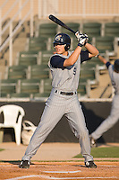 Roman Pena (9) of the Lake County Captains at bat at Fieldcrest Cannon Stadium in Kannapolis, NC, Wednesday July 2, 2008. (Photo by Brian Westerholt / Four Seam Images)