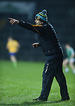 Neil Hawes, Clare manager, on the sideline during the Mc Nulty Cup U-21 final against Limerick at The Gaelic Grounds. Photograph by John Kelly.