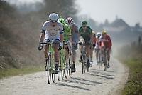 111th Paris-Roubaix 2013..Koen de Kort (NLD) in sector #24.