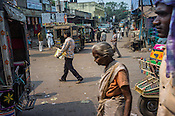Pedestrians seen in the busy marketplace in Jharia, outside of Dhanbad in Jharkhand, India.  Photo: Sanjit Das/Panos