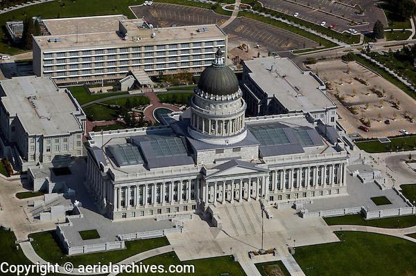 aerial photograph of the Utah State capitol building, Salt Lake City, Utah