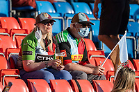 4th June 2021; AJ Bell Stadium, Salford, Lancashire, England; English Premiership Rugby, Sale Sharks versus Harlequins; Some Harlequins fans in the sunshine watching the game