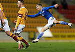 St Johnstone v Motherwell…21.11.20   McDiarmid Park      SPFL<br />David Wotherspoon shoots wide<br />Picture by Graeme Hart.<br />Copyright Perthshire Picture Agency<br />Tel: 01738 623350  Mobile: 07990 594431