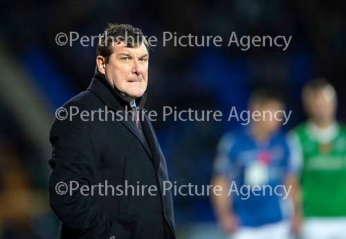 St Johnstone v Hibs…..09.11.19   McDiarmid Park   SPFL<br />Saints boss Tommy Wright<br />Picture by Graeme Hart.<br />Copyright Perthshire Picture Agency<br />Tel: 01738 623350  Mobile: 07990 594431