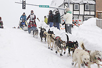 Saturday, March 3, 2012  Ceremonial Start of Iditarod 2012 in Anchorage, Alaska.