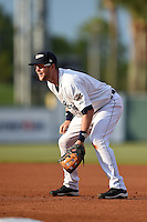 Lakeland Flying Tigers first baseman Bobby Borchering (4) during a game against the Palm Beach Cardinals on April 13, 2015 at Joker Marchant Stadium in Lakeland, Florida.  Palm Beach defeated Lakeland 4-0.  (Mike Janes/Four Seam Images)