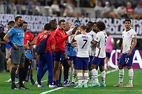 DALLAS, TX - JULY 25: USMNT during a game between Jamaica and USMNT at AT&T Stadium on July 25, 2021 in Dallas, Texas.