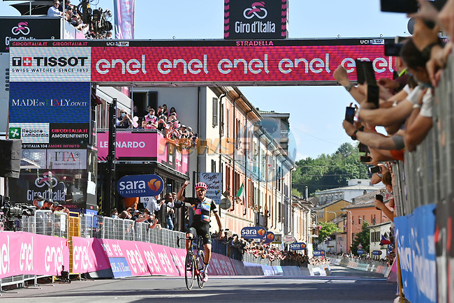 Alberto Bettiol (ITA) EF Education-Nippo from the breakaway wins Stage 18 of the 2021 Giro d'Italia, running 231km from Rovereto to Stradella, Italy. 27th May 2021.  <br /> Picture: LaPresse/Massimo Paolone | Cyclefile<br /> <br /> All photos usage must carry mandatory copyright credit (© Cyclefile | LaPresse/Massimo Paolone)