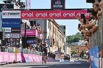 Alberto Bettiol (ITA) EF Education-Nippo from the breakaway wins Stage 18 of the 2021 Giro d'Italia, running 231km from Rovereto to Stradella, Italy. 27th May 2021.  <br /> Picture: LaPresse/Massimo Paolone   Cyclefile<br /> <br /> All photos usage must carry mandatory copyright credit (© Cyclefile   LaPresse/Massimo Paolone)