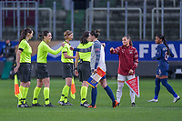 Swiss Ramona Bachmann (10) , French Charlotte Bilbault (14) pictured during the 2nd Womens International Friendly game between France and Switzerland at Stade Saint-Symphorien in Longeville-lès-Metz, France.