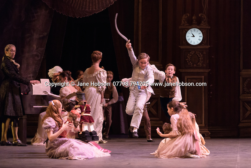 London, UK. 13.12.2016. English National Ballet presents NUTCRACKER, at the London Coliseum. Choreography by Wayne Eagling, based on a concept by Toer van Schayk and Wayne Eagling, music by Pyotr Ilyich Tchaikovsky, design by Peter Farmer, lighting by David Richardson. Picture shows: Artists of the company, students from Tring Park School for the Performing Arts and students from English National Ballet School. Photograph © Jane Hobson.,
