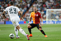 Galatasaray´s Wesley Sneijder during Santiago Bernabeu Trophy match at Santiago Bernabeu stadium in Madrid, Spain. August 18, 2015. (ALTERPHOTOS/Victor Blanco)