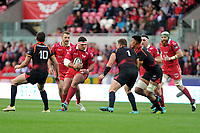 Werner Kruger of Scarlets in action during the Guinness Pro14 Round 5 match between Scarlets and Isuzu Southern Kings at the Parc Y Scarlets in Llanelli, Wales, UK. Saturday 29 September 2018